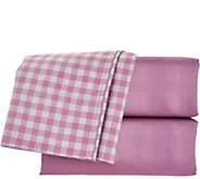 Home Reflections 600TC Easy Care Reversible 4pc Twin Sheet Set - H210239