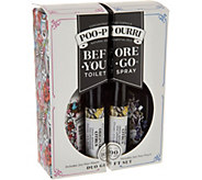 Poo-Pourri Pull Apart Gift Set w/ (2) 2oz. Poo and (2) 4mL Poo - H211939