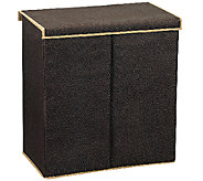 Household Essentials Laundry Sorter w/ Lid -Dark Coffee Linen - H282639