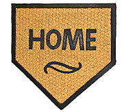 Geo Crafts Flat WeaveTuffcor Home Plate Door Mat - H283839