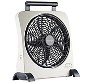 O2Cool 10 SmartPower Fan with USB Power Port &Adapter - H289039