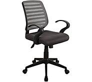 Techni Mobili Modern Rolling Mesh Adjustable Task Chair w/Arms - H295939