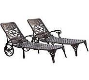 Home Styles Set of 2 Biscayne Chaise Lounge Chairs - H367839