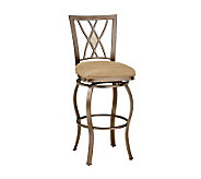 Hillsdale House Brookside Diamond Fossil Back Swivel Bar Stool - H142340