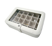 Mele & Co Faux Leather Crystal 24 SectionJewelry Box - H155340