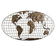 World Map Metal Wall Art - H155540