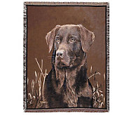 Chocolate Lab Throw by Simply Home - H177140
