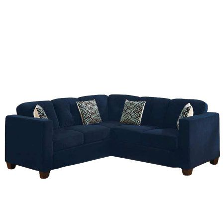 Barrow Black Microfiber Sleeper Sectional Sofa