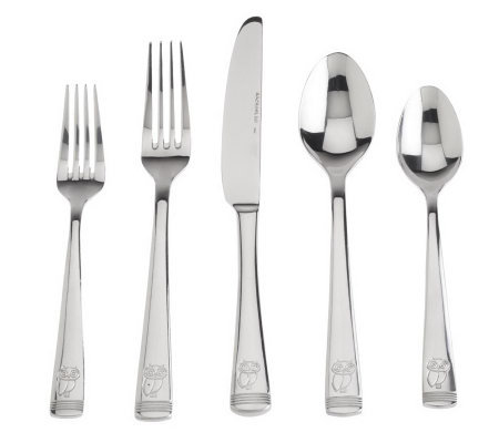 Rachael Ray Stainless Steel 70-pc. Little H Service for 12 Flatware Set