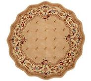 Royal Palace Fleur De Lis Scallop 6 Round Wool Rug - H202340