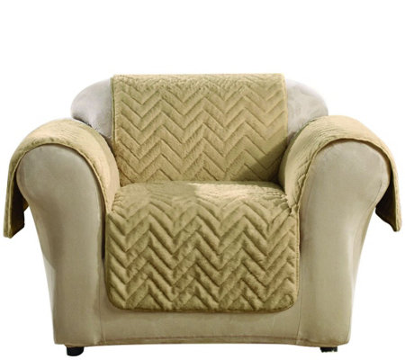 Sure Fit Sheared Faux Fur Chair Furniture Cover — QVC