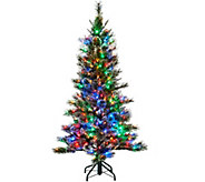 Kringle Express 5 Glittery Pine Tree w/ LED Color Changing Lights - H205740