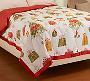 Northern Nights Holiday Cheer 300TC 550 FP Winterweight QN Down Blanket - H206840
