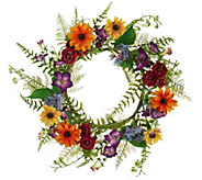 Garden in Bloom 18 Mixed Floral Wreath by Valerie - H207940