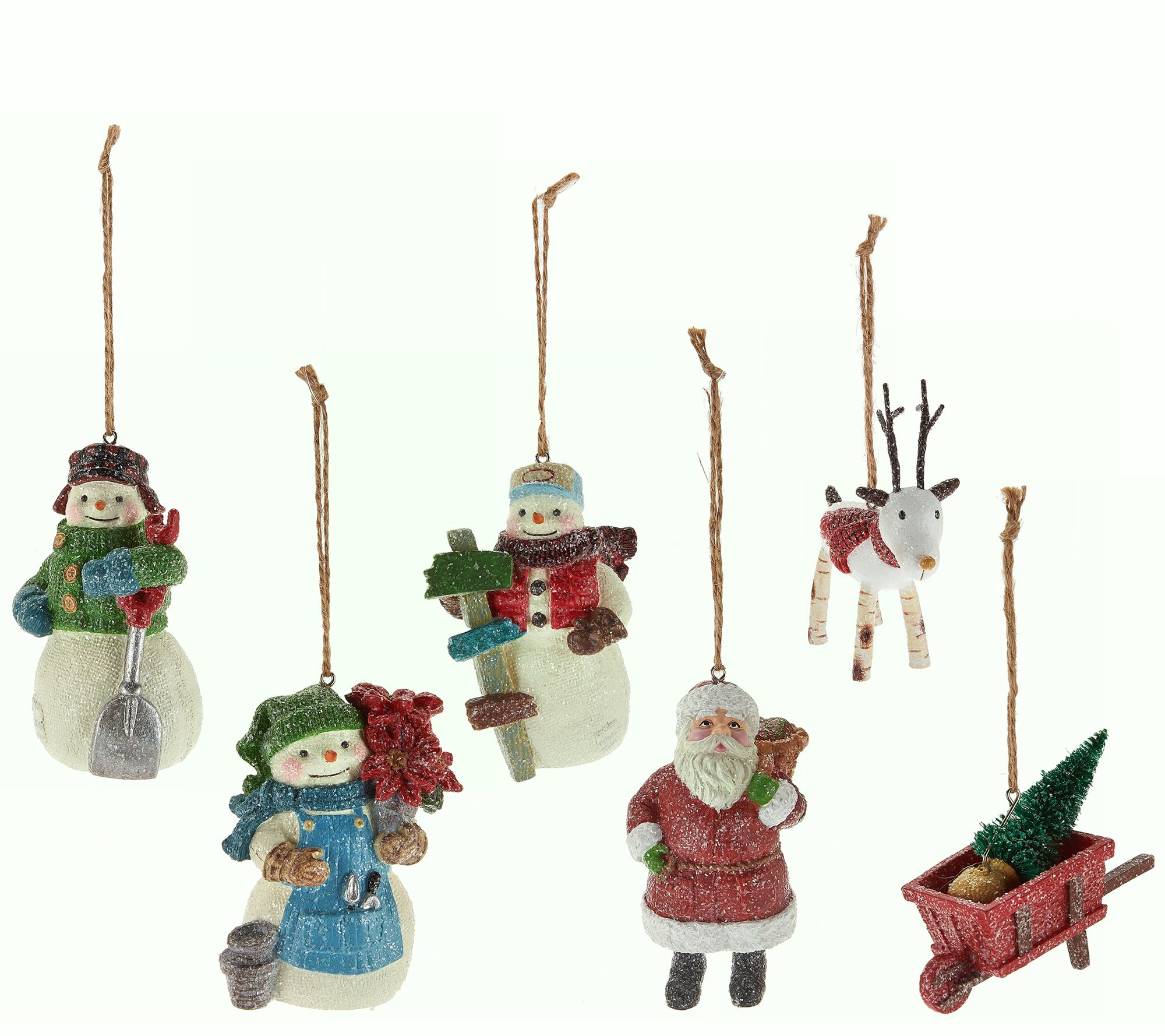 "Hallmark Set Of 6 3.5"" Designer Iconic Holiday Ornaments"