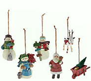 Hallmark Set of 6 3.5 Designer Iconic Holiday Ornaments - H208740