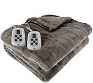 Serta Perfect Sleeper QN Heated Plush Blanket - H209240