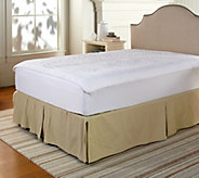 As Is Perfect Fit Memory Foam QN Mattress Pad w/ Stain Repel & Skirt - H209940