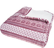 Berkshire King Fair Isle Velvet Soft Reverse to Sherpa Blanket - H212240