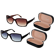 S/2 Foldable Neox Sunglasses with Compact Cases by Lori Greiner - H212340