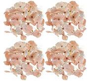 Set of 4 Glistening Hydrangea Clips by Valerie - H212540