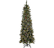 9 Glittery Bristle Pine Incandescent Slim Tree by Valerie - H212740
