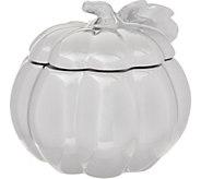 As Is HomeWorx by Harry Slatkin Large Ceramic Pumpkin Candle - H214840