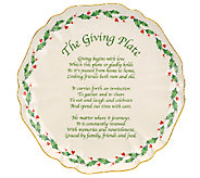 Lenox Holiday 11 Carved Giving Plate - H284540