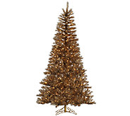 7.5 Copper Tinsel Tree w/ Clear Dura-Lit Lights by Vickerman - H285440