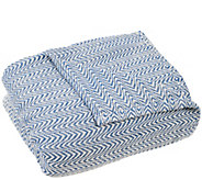 Lavish Home Chevron 100Egyptian Cotton Twin Blanket - H288940