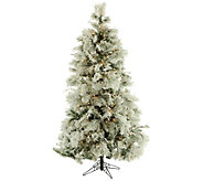Fraser Hill Farm Prelit 10 Flocked Snowy PineChristmas Tree - H294840