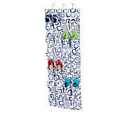 Honey-Can-Do 24-Pocket Over-the-Door Shoe Organizer-White/Blue - H356940