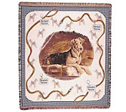 Airedale Terrier Throw - H361640
