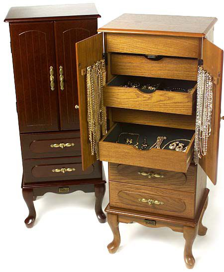 Thomas Pacconi Musical Floor Standing Jewelry Armoire QVCcom