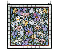 Tiffany Style Magnolia Window Panel - H124441