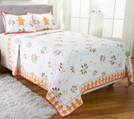 Temp-tations Gingerbread Print Quilt Set by Berkshire