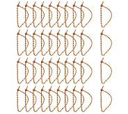 Tieem Ups Set of 40 12 Flexible Reusable Silicone Ties - H192141