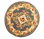Royal Palace 3 X 3 Round HeritageMedalli Handmade Wool Rug - H196141
