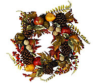 24 Fruit and Berry Wreath with Pinecones by Valerie - H206141