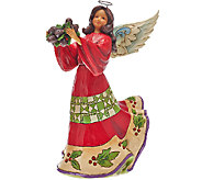 Jim Shore Heartwood Creek 9 1/2 Angel w/ Holly Figurine - H207141