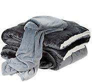 London Fog Supreme Velvet Comforter with 50x60 Throw - H210141
