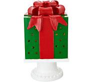 Kringle Express 13 Illuminated Pierced Holiday Present on Pedestal - H213341