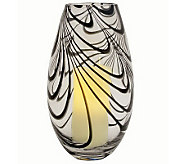 Pacific Accents Swirled Glass Hurricane with Flameless Candle - H281541