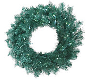 24 Lit Tinsel Wreath by Vickerman - H287741