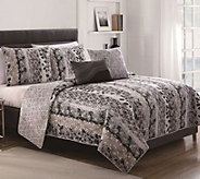 Victoria Classics Asian Botanical Full/Queen 5-Piece Quilt Set - H288241