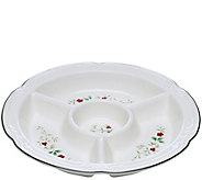 Pfaltzgraff Winterberry Four-Section Divided Serve Bowl, Round - H289941