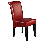 Parsons Chair in Crimson Red Faux Leather by Office Star - H349741