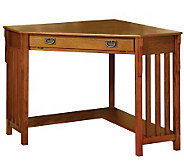 Toledo Oak Finish Corner Desk - H359541