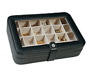 Mele Faux Leather Crystal Jewelry Box with 24 Sections - H155342