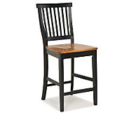Home Styles Kitchen Stool - Black with Oak Seat - H180942